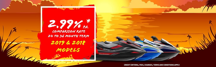 52 2.99% P.A. Comparison Rate Finance on 2018 & 2019 WaveRunners